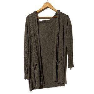 AEO knit Open Cardigan Hoodie Sweater size M